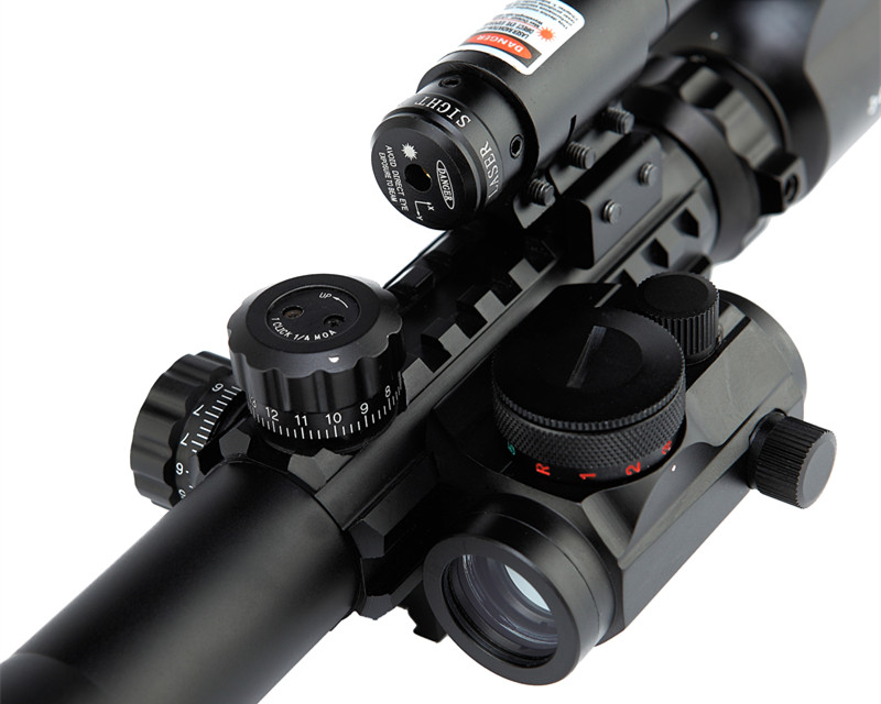 Tactical Rifle Scope Dual Illuminated Rifle Scope with Red Dot