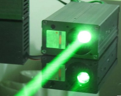 Thick Beam Green Lasers