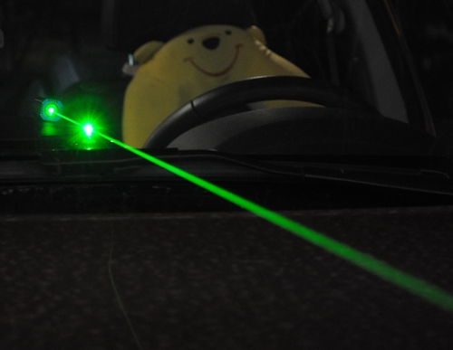 Vehicle Connected Laser Dazzler