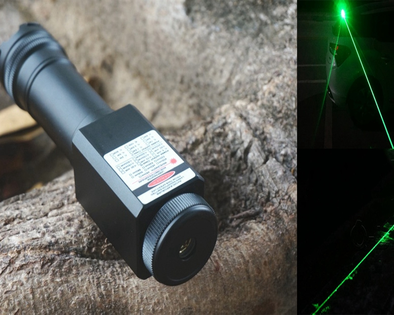 Green Laser Dazzler 520nm Waterproof Flashlight Hammer Shape 1000mW
