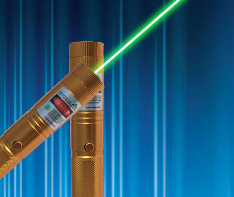 Most Popular 200mw green laser pointer golden style with Safety
