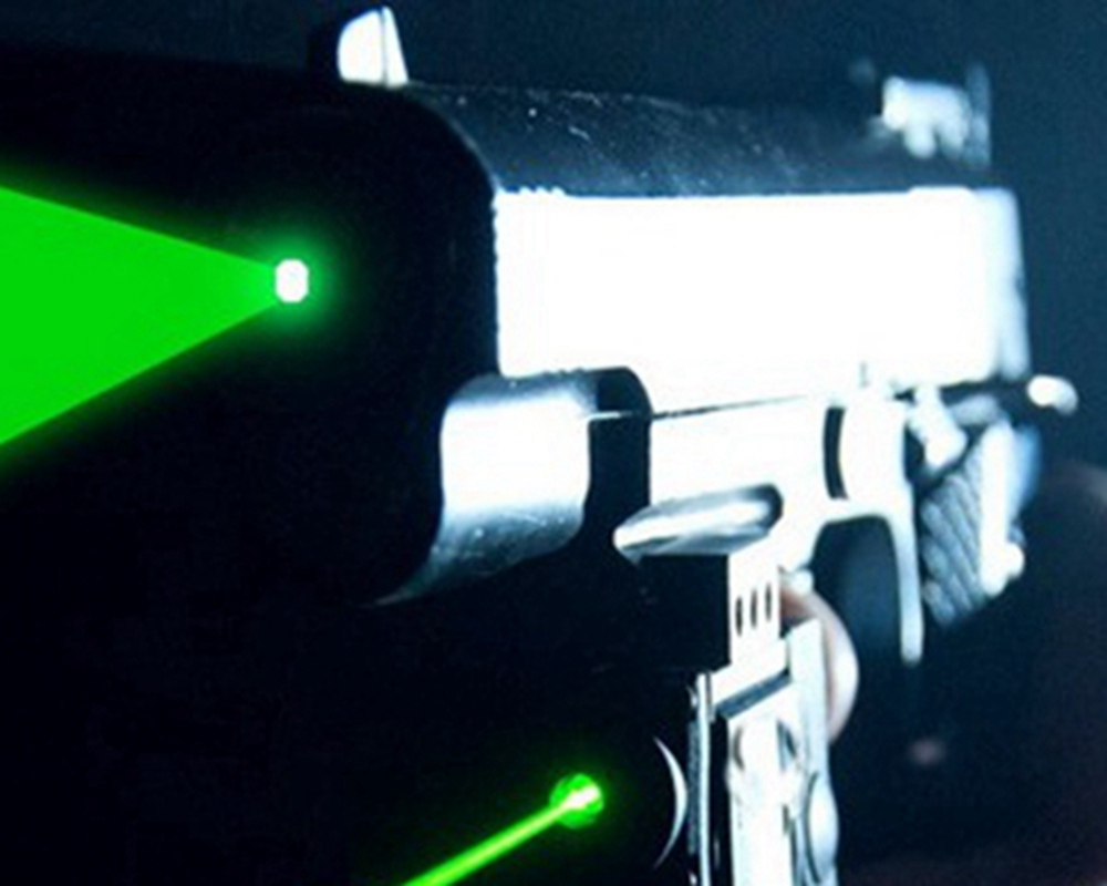 600mw 532nm Green Laser Pistol type Dazzlers, ABS housing
