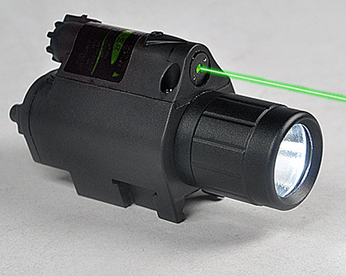 Tactical Green Laser Sight with Bright LED Flashlight