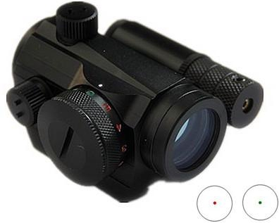 Red Dot Sight Rifle Scope with Built-in Red Lasers