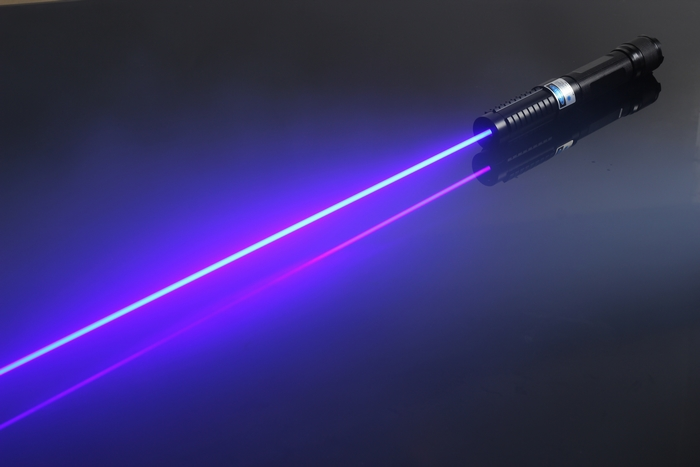 2000mw 2w Blue Handheld Portable Laser Pointer With Low